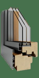 Dřevohliníkové okna